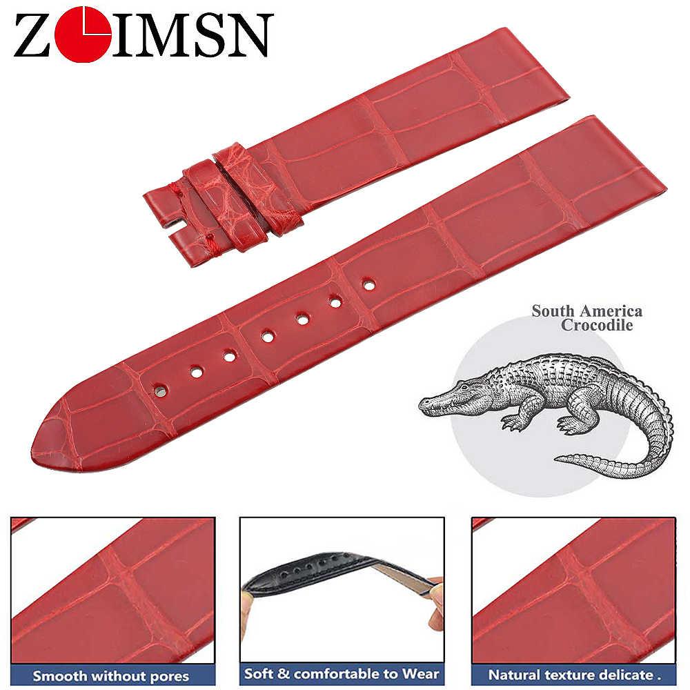 ZLIMSN Vera Pelle di Alligatore Cinturino in pelle Custom Design ServiceSize 16-14 millimetri Per BVLGARI degli uomini e Delle Donne orologi da