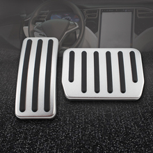 Car Foot Pedal For Tesla Model 3 No Drilling Non-Slip Performance Aluminium alloy Accelerator Rest Modified Pads