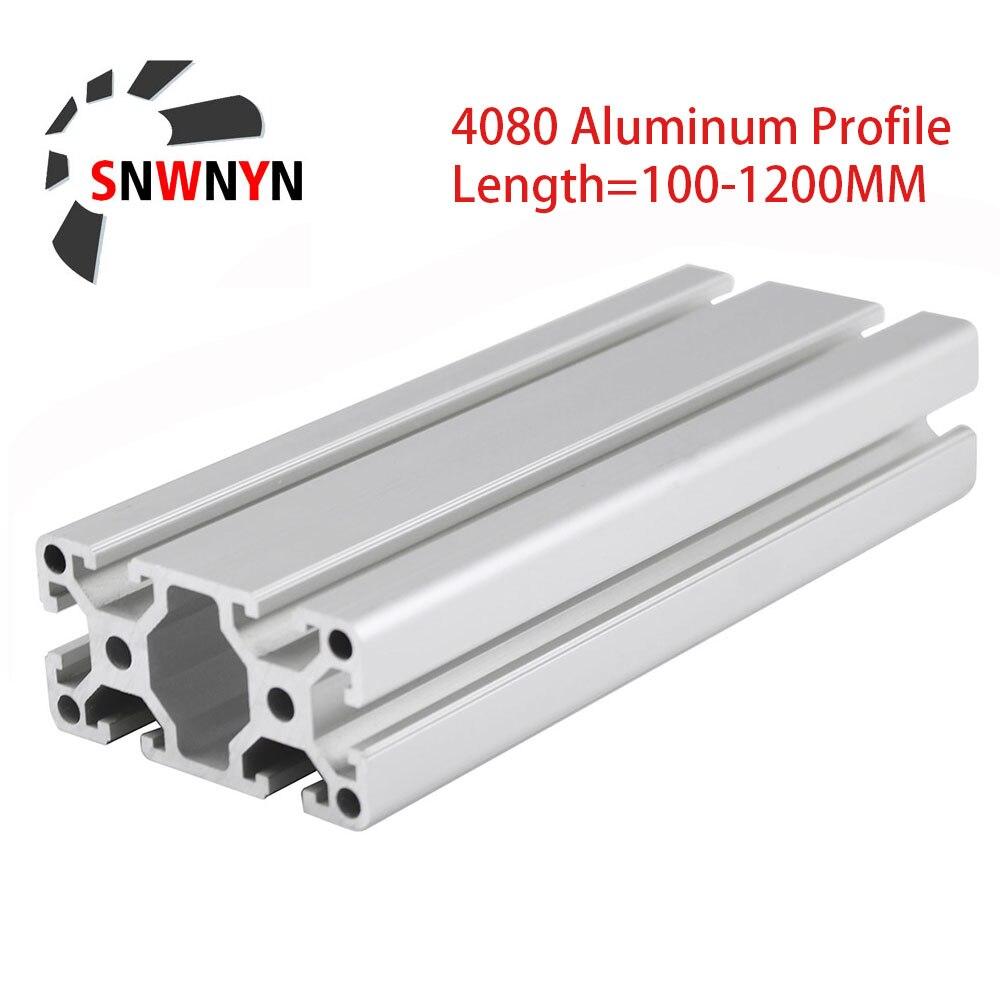 Алюминиевый профиль 4080, экструзия по европейскому стандарту, анодированный линейный рельс, алюминиевая экструзия 4080, профиль для частей 3D-п...