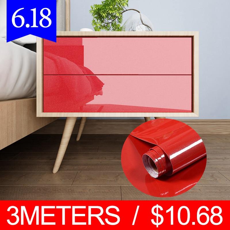 PVC Self Adhesive Wallpaper Furniture Film Wall Stickers for Kitchen Cabinet Door PVC Self adhesivedesktop Waterproof Wallpapers