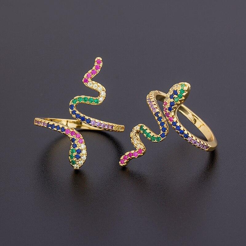 Высокое качество, новый дизайн, классическое кольцо в виде змеи для женщин, очаровательные обручальные кольца для свадебной вечеринки, модн...