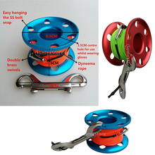 Finger-Reel Bolt-Snap-Clips Steel-Clip Diving-spool-20/30/50m with Wreck Elastic-Line