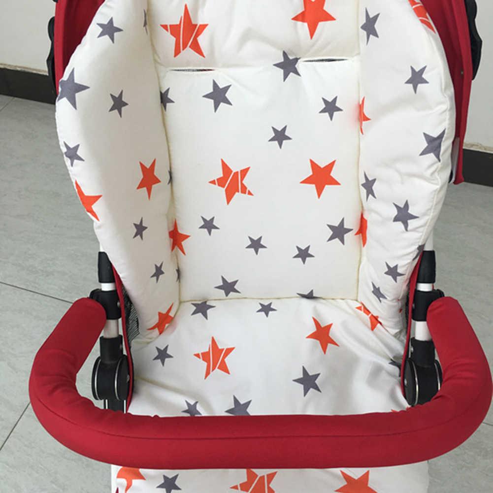 Estrela impressão universal carrinho de bebê alta cadeira assento almofada forro esteira do carrinho colchão cadeira alimentação almofada capa protetor