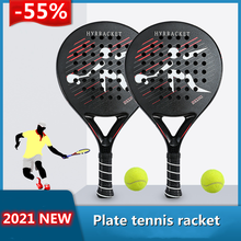 New Black Beach Tennis Racket Sports Racket Board Carbon Fiber EVA Foam Core Outdoor Sports Tennis Racket Sports Equipment