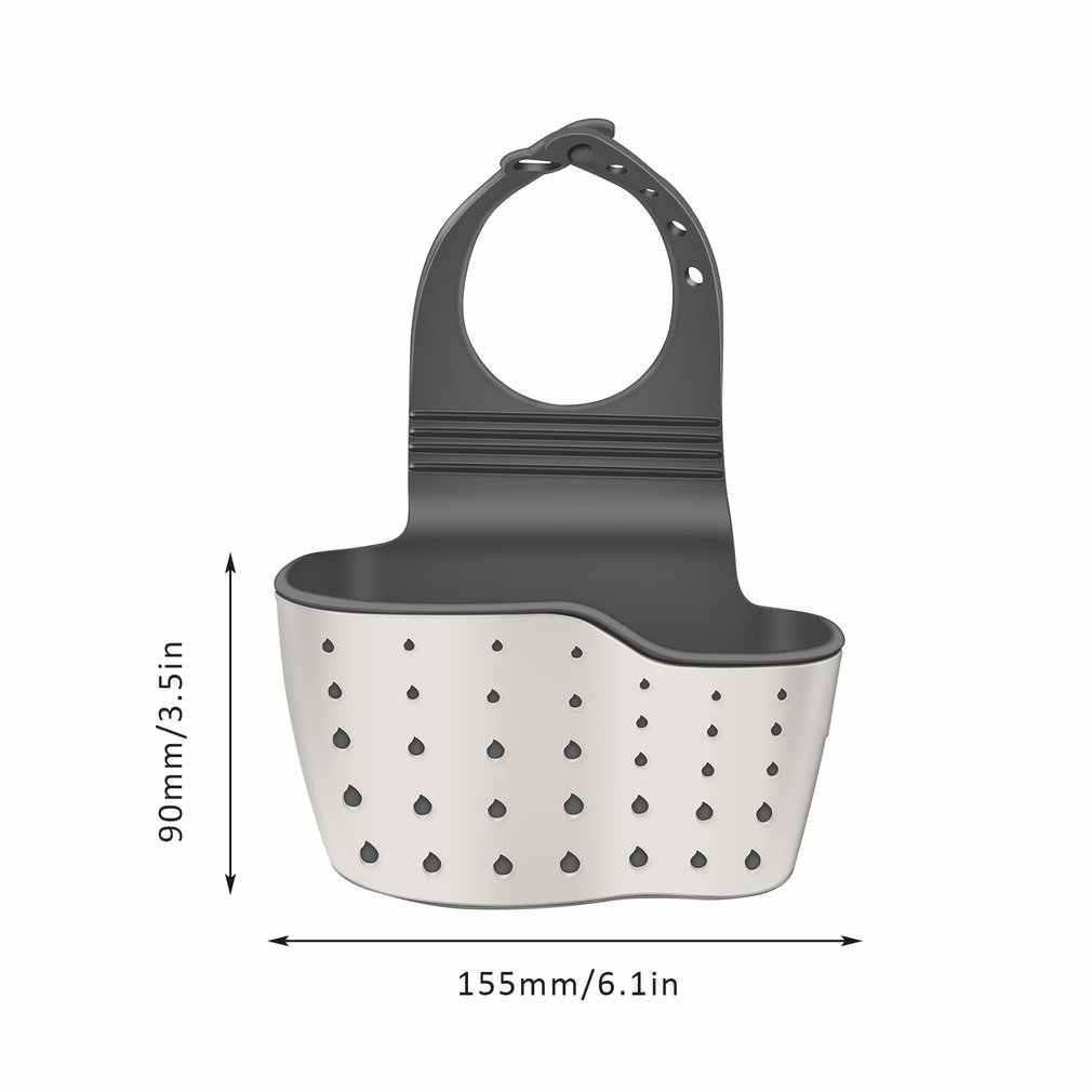 12x22cm PP Sink Drain Korb Küche Einstellbare Gummi Kreative Hängende Hohle Waschen Schwamm Pool Regal Küche Lagerung ablauf Waschbecken