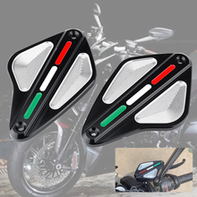 цена на For DUCATI 1260 DIAVEL AMG CARBON STRADA XDIAVEL S Motorcycle CNC Aluminum Front Brake Fluid Reservoir Cap Cover Accessories