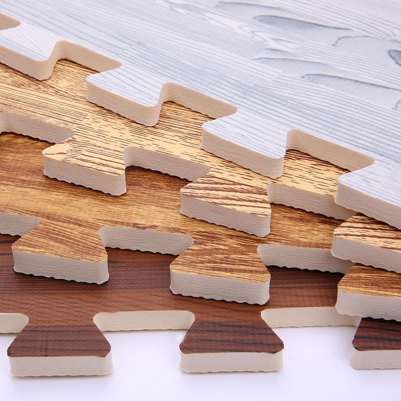 H6e0b7e60d1194796954c38beef9cf4ddc Wooden Puzzle Mat Foam 30*30*1cm Baby Play Mat Splicing Bedroom Soft Floor Interlocking Kids Rug Living Room Gym Crawling Carpet