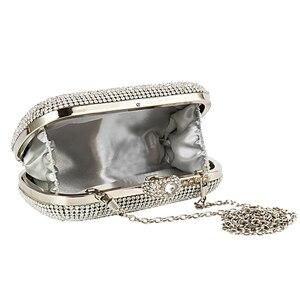 Image 4 - Вечерняя Сумка клатч, сумочка с бриллиантами, вечерняя сумка с цепочкой, сумка на плечо, женские сумки, кошельки, вечерняя сумка для свадьбы