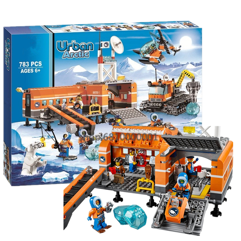 CITY Series Arctic Base Camp Arctic Outpost Building Block Brick City Model Toy For Children Xmas Gift