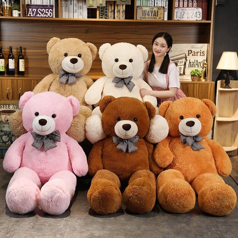 120/140 см гигантские Размеры Классическая мишка плюшевые игрушки полная мягкие в виде медведя из мультфильма подушка для маленьких девочек п...
