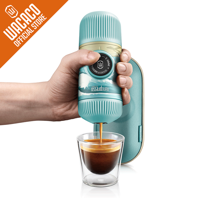 Nanopresso Portable Espresso Maker,18 Bar Pressure, Manually Operated, Compatible with Ground Coffee, Summer Session