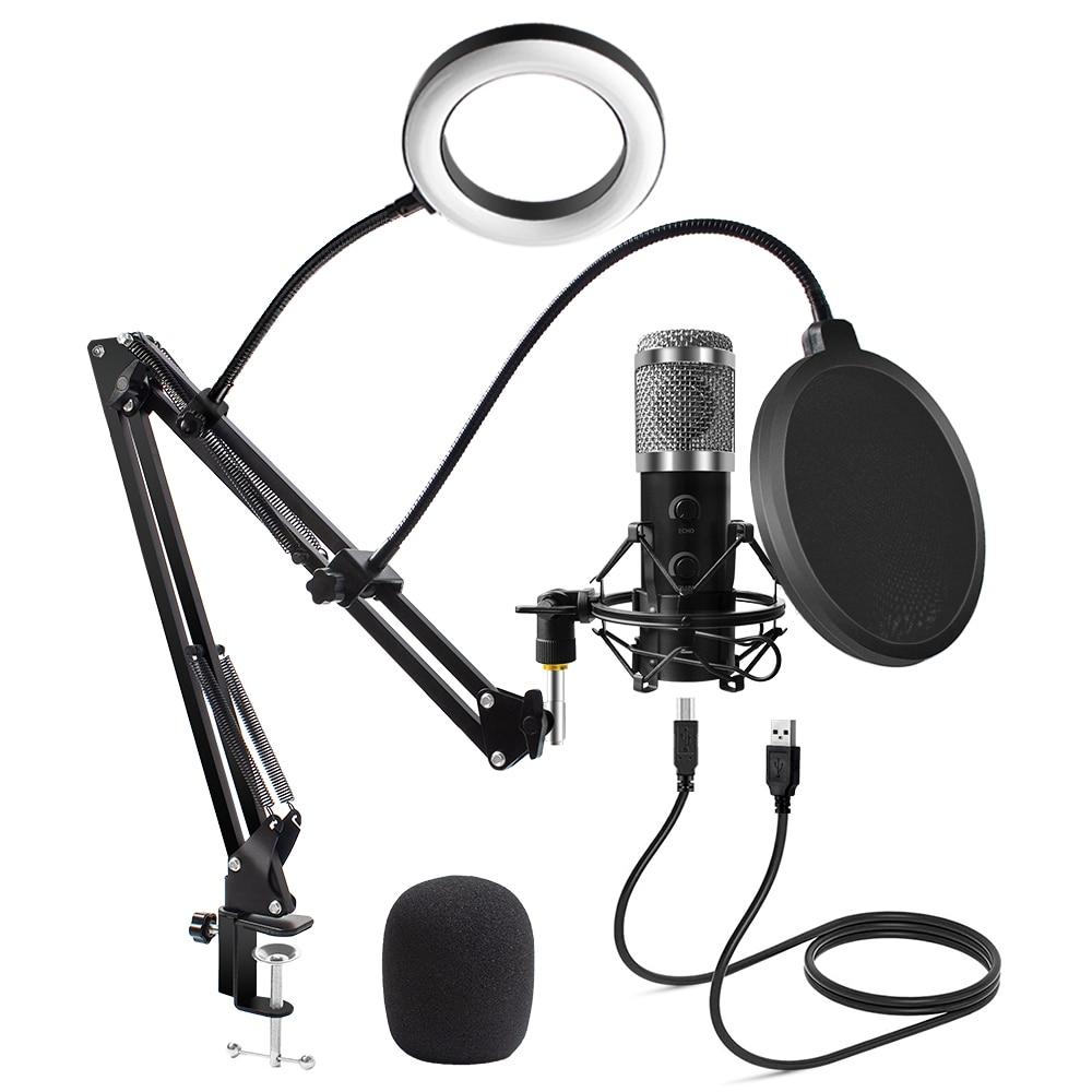 2021 обновленное автомобильное зарядное устройство Usb E20 конденсаторный микрофон компьютера с защитой от повреждений и кольцом светильник ст...