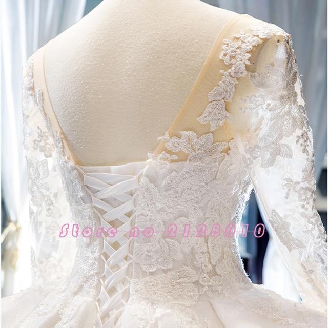 New Arrivals Gorgeous Long Sleeve Beading Lace Wedding Dress China Shop Online Vestido De Noiva Princesa 4