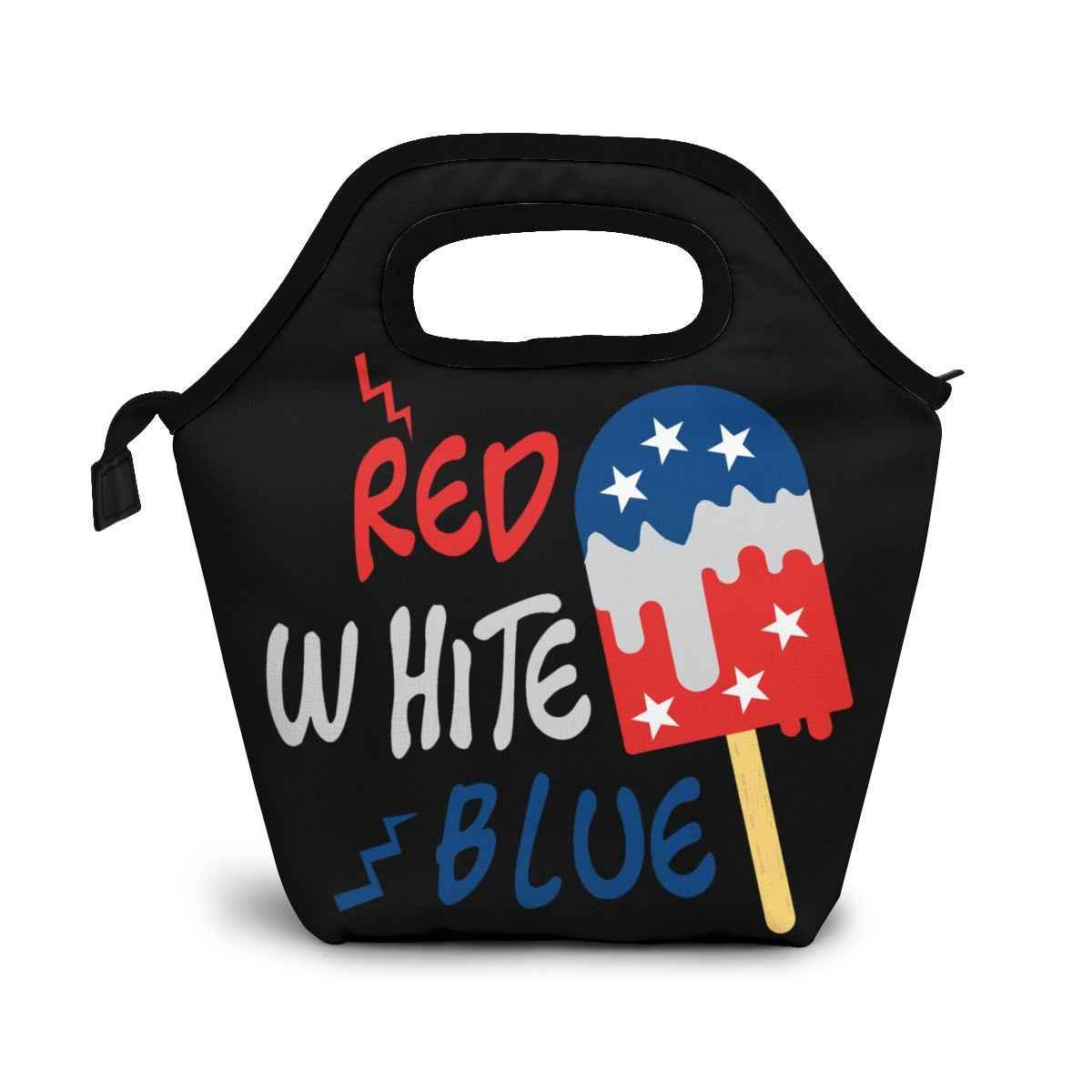 Красный, белый, синий, подарок США, красные, белые, синие коробки Yyt, сумки, портативная Изолированная коробка для еды для пикника для женщин и мужчин