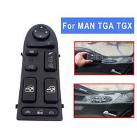 Auto Power Window Lifter Control Switch For MAN TGA TGX 81258067045 81258067098 Button LHD Car