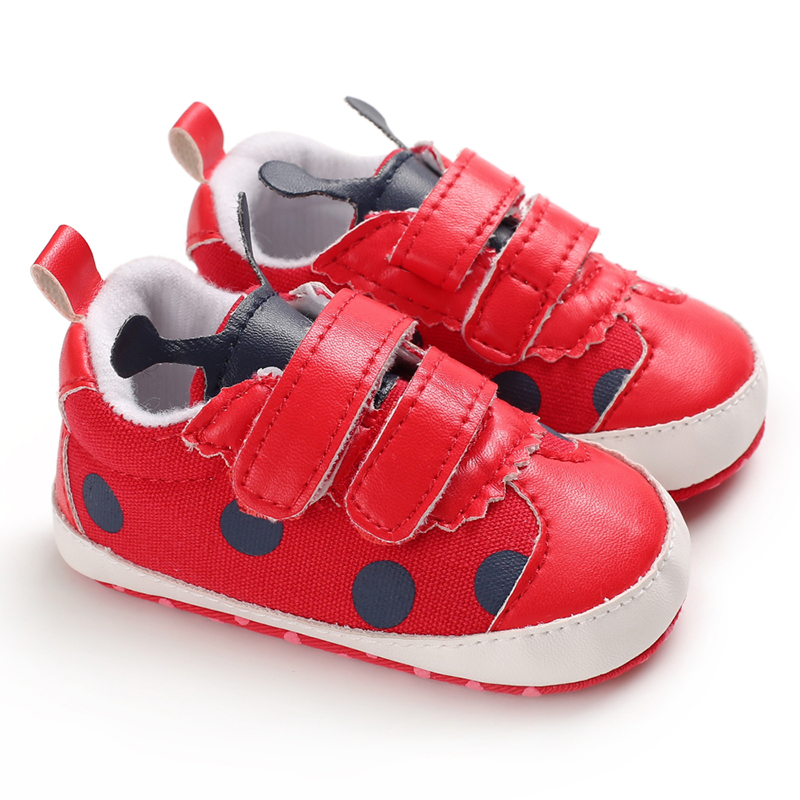 Baby Boys Girls Shoes Patchwork Design First Walkers Toddler Shoes Anti-Slip Sneakers Toddler Soft Soled PU Shoes