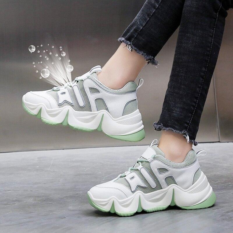 Gran oferta, zapatillas informales De diseñador para Mujer, zapatos vulcanizados De marca para Mujer, zapatillas gruesas con cordones para Mujer GOGC 2020, zapatos de mujer de primavera, zapatos de plataforma para mujer, zapatillas gruesas, zapatillas, zapatos informales para mujer, zapatillas para mujer G6802