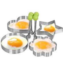 Fried Egg Pancake shaper Stainless Steel Fried Egg Pancake Ring Circle Mold Heart Shape Egg Cooking Tools Kitchen accessories(China)