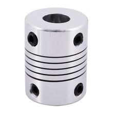CNC Motor Shaft Coupler 6.35mm to 8mm Flexible Coupling 6.35x8mm cnc motor shaft coupler 6 35mm to 8mm flexible coupling 6 35x8mm