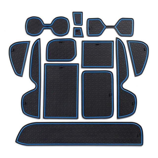 Thảm Chống Trơn Trượt Cho Điện Thoại Cổng Khe Cắm Thảm Cốc Miếng Đệm Cao Su Thảm Dành Cho Xe Toyota RAV4 2019 2020 XA50 RAV 4 50 Xe Ô Tô Phụ Kiện