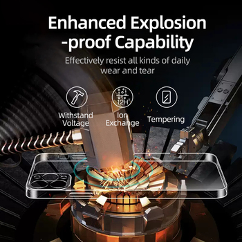 Стеклянный чехол Joyroom 9H для iPhone 11, 12 Pro Max 3