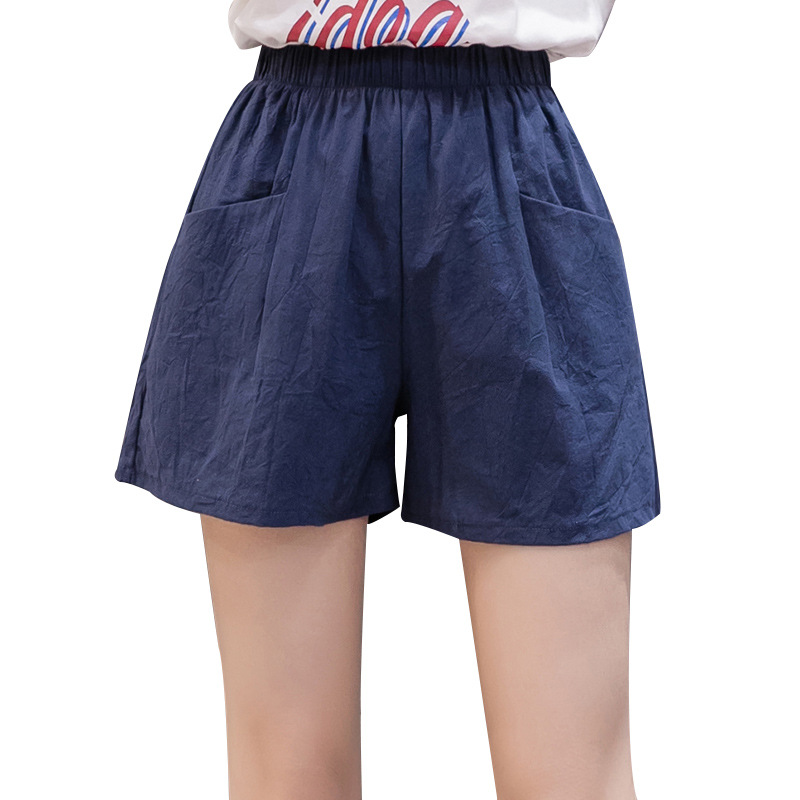 2020 Cheap Stuff Cotton Linen Shorts Women High Waist Summer Flax Loose Thin Korean Version Three Minutes Casual Wide Leg Solid
