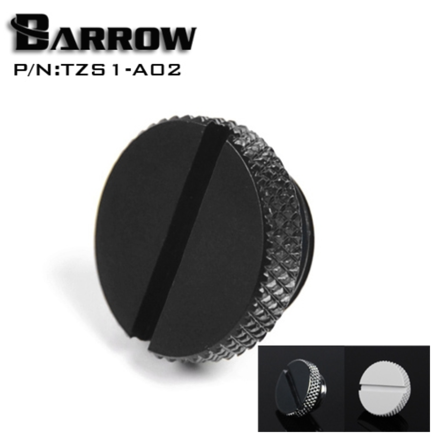 Barrow TZS1-A02 G1 / 4 White Black Silver Gold Acrylic Water Cooling Connector, Coins Can Be Used To Twist The Connector