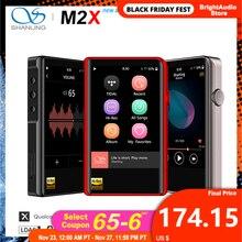 Shanling m2x hi res ak4490 dac usb dsd wifi bluetooth música de alta fidelidade mp3 player pcm 32/384 tela de toque tipo c