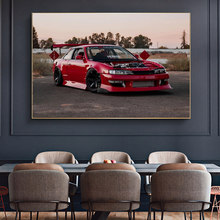 Modern Super Cool Red Car Posters Canvas Paintings Sport Car Fanart Living Room Decoration Picture Home Wall Art Decor No Frame