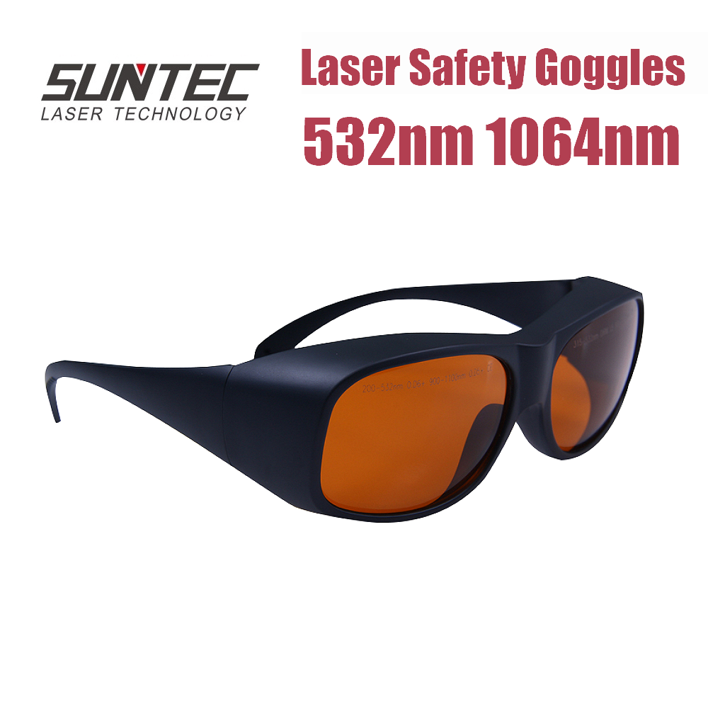 Suntec Laser Safety Glasses GTY 532nm, 1064nm Multi Wavelength Laser Protection Goggles Glassess ND:YAG Laser Protection