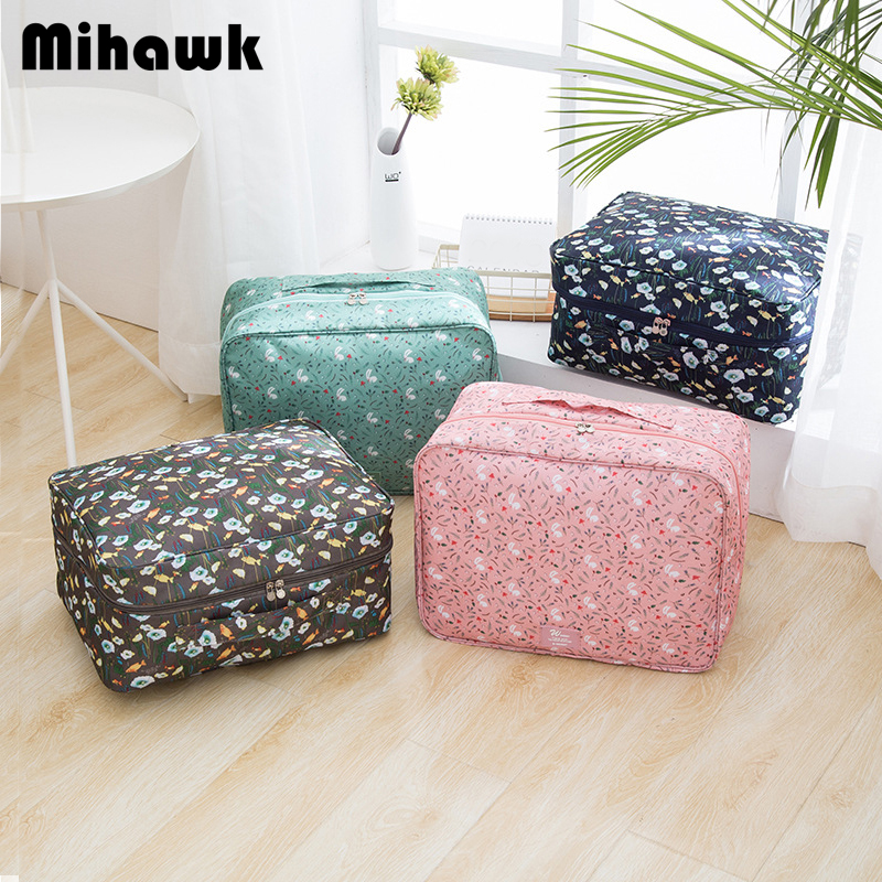 Mihawk Portable Women's Travel Bag Cartoon Cute Personalized Luggage Bags Accessories Clothes Underwear Storage Bag Supply Stuff