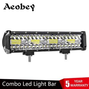 Image 1 - Aeobey 12 Inch 240W 80led Off Road Led Light Bar Curved LED Driving Lights 4x4 Offroad Truck SUV ATV Tractor Boat 12v 24v