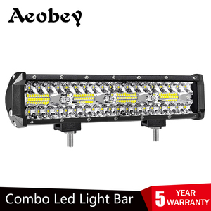 Image 1 - Aeobey 12 Zoll 240W 80led Off Road Led Licht Bar Curved LED Treibendes Lichter 4x4 Offroad Lkw SUV ATV Traktor Boot 12v 24v