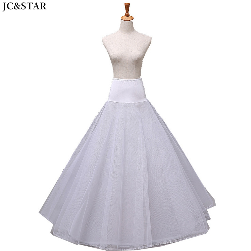 saiote para vestido de noiva new tulle A Line black white 1hoop ruffles petticoat retro cheap tulle underskirt high quality