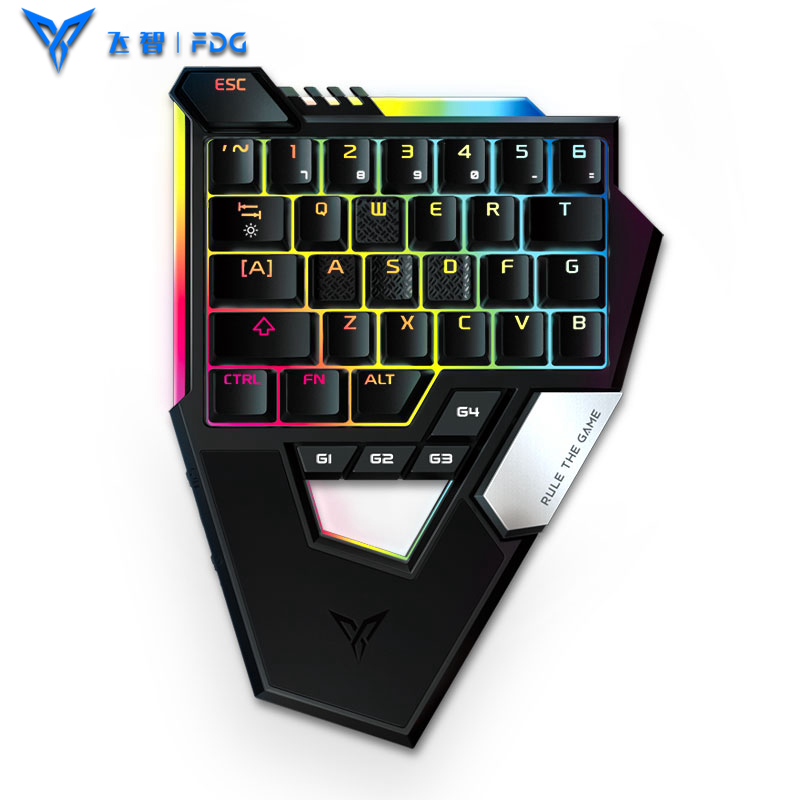 Flydigi Scorpion for PUBG Mobile Game Mechanical Keyboard One hand Play Keyboard with Mouse Converter for iphone IOS Android PC