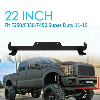 20 Inch Straight LED Light Bar Lower Bumper Grill Opening Mounting Bracket for Ford F-250 F-350 F-450 2011-2016
