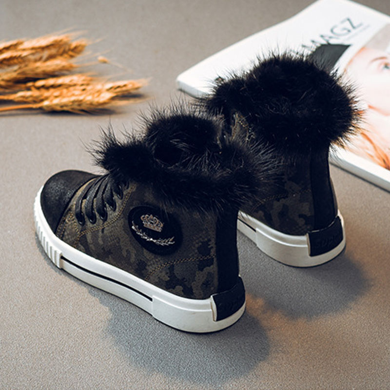 HOT Boys Winter Boots Fashion Plus Velvet Martin Fat Shoes Girls Ankle Boots Kids Shoes For Toddler Boy Girl Teens Size 26-36