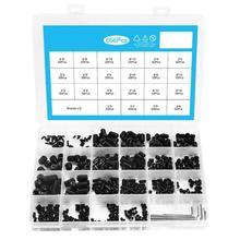 666pcs m2m3m4m5m6m8 black hexagon socket set screw with wrench combination set