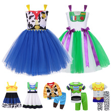 Histoire de jouet filles Costume Cosplay vêtements Woody Buzz Lightyear Jessie robe cow-girl Cowboy Woody Forky Bo Peep Forky Tutu robe