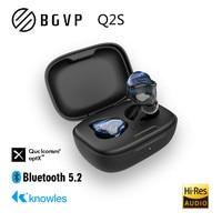 BGVP-auriculares inalámbricos Q2S TWS QCC3040 Qualcomm Knowles 3D, audífono deportivo Binaural con Bluetooth 5,2, música Hifi personalizada