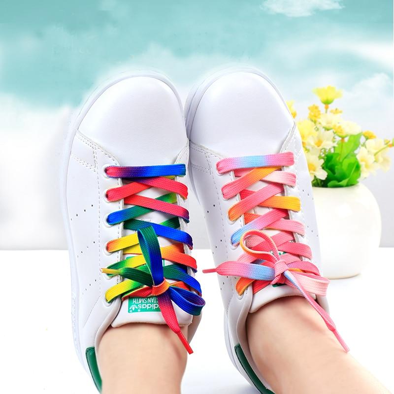 Fashion Rainbow Shoelace National Flag Color Sneakers Sports Shoe Laces Shoelace Casual Athletic Men Woman ShoeLaces For Shoes