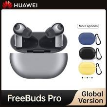 Huawei FreeBuds Pro TWS Qi Drahtlose Lade Bluetooth 5,2 Lärm Stornierung Kopfhörer Für Taube 40 P30 In Lager Globale Version