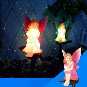 Flower Fairy Solar LED Lawn Po