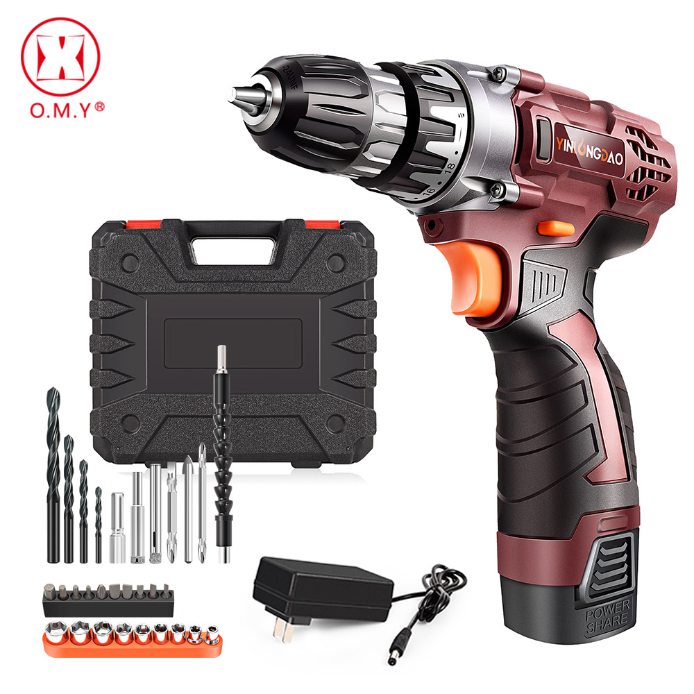 18V Lithium Drill Electric Screwdriver Cordless Drill  Lithium-Ion Battery Wireless Power Driver DIY Torque Drill Power Tools