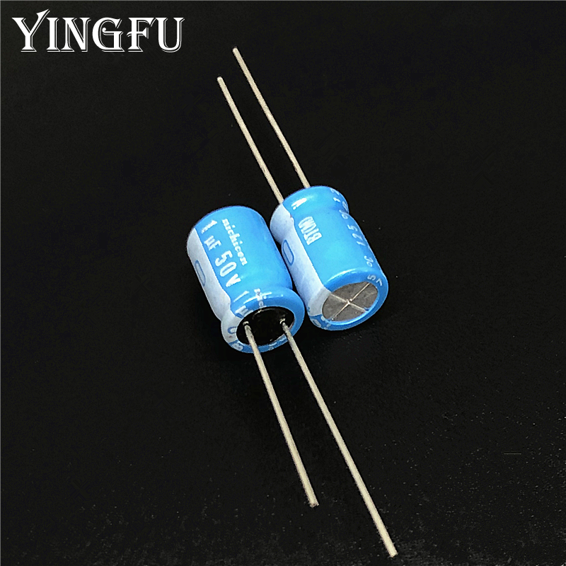 20pcs 1uF 50V NICHICON BT Series 8x11.5mm Highly Dependable Reliability 50V1uF Aluminum Electrolytic Capacitor