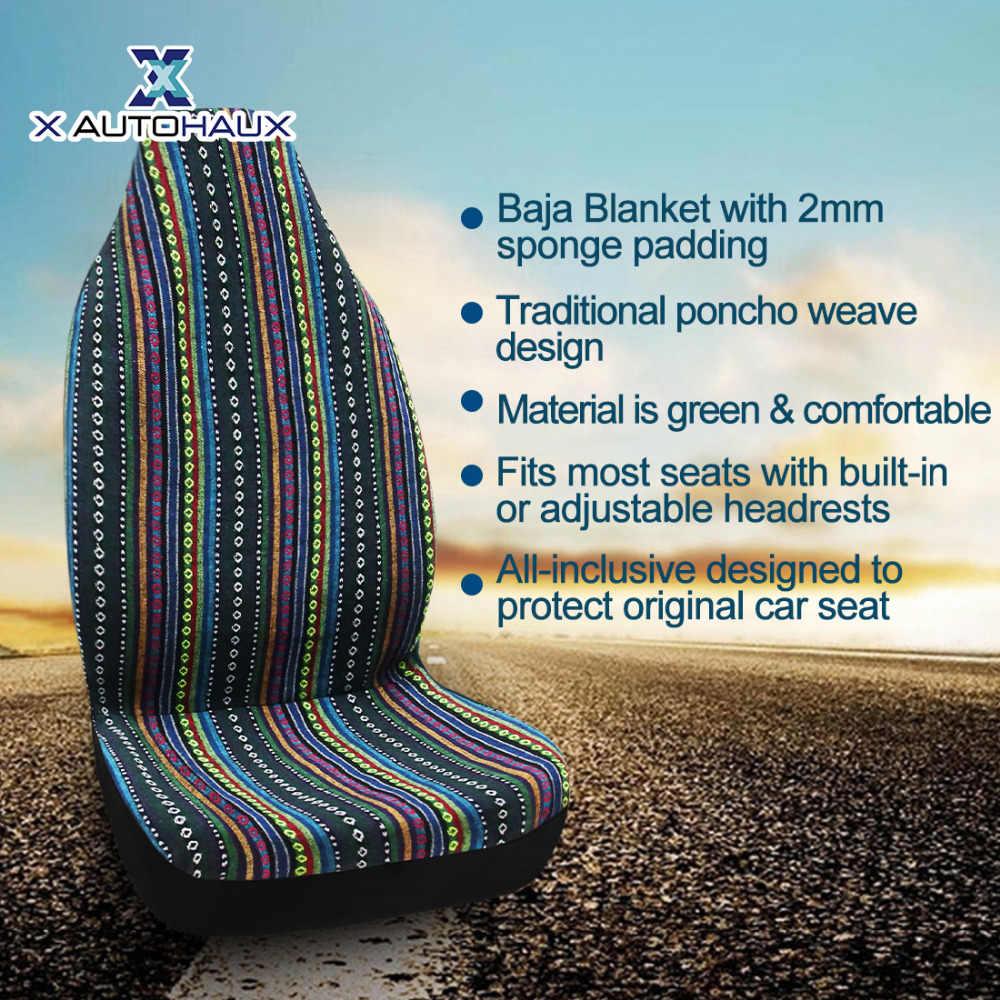 X Autohaux 13 لون السيارات باجا بطانية العالمي دلو مقعد يغطي ل سيارة شاحنة SUV السيارات ديكو مقعد السيارة يغطي