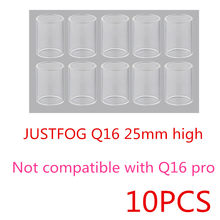 Q16 10PCS FATUBE Glass tube for Justfog Q16c Pro Q14 C14 S14 Compact 14 16 TANK(China)