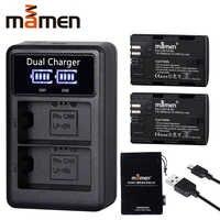 2600mAh LP E6 LP-E6 LPE6 batterie appareil photo numérique + USB LCD double chargeur pour Canon Mark II Mark III 6D 7D 60D 60Da 70D 80D 5DS 5D