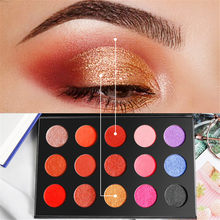 15/16 Warna Matte Glitter Eyeshadow Tahan Lama Tahan Air Kosmetik Kit(China)