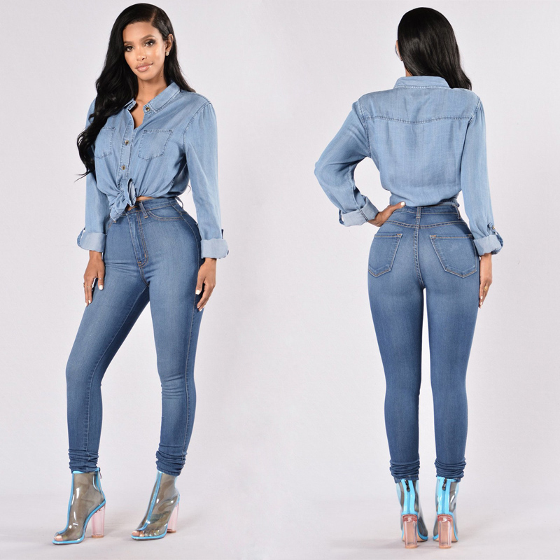 Sexy Push Up Jeggings Jeans For Women Skinny Stretch Ladies Jeans Trousers Denim Pencil Pants Summer Slouchy Clothing 2020
